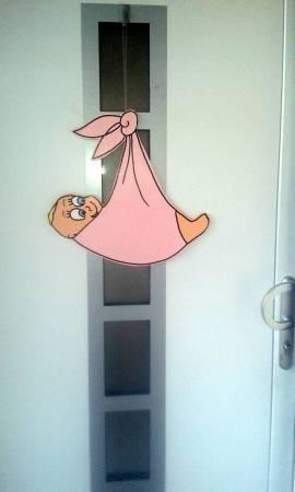 Haustür Windel rosa - Bild vergrößern